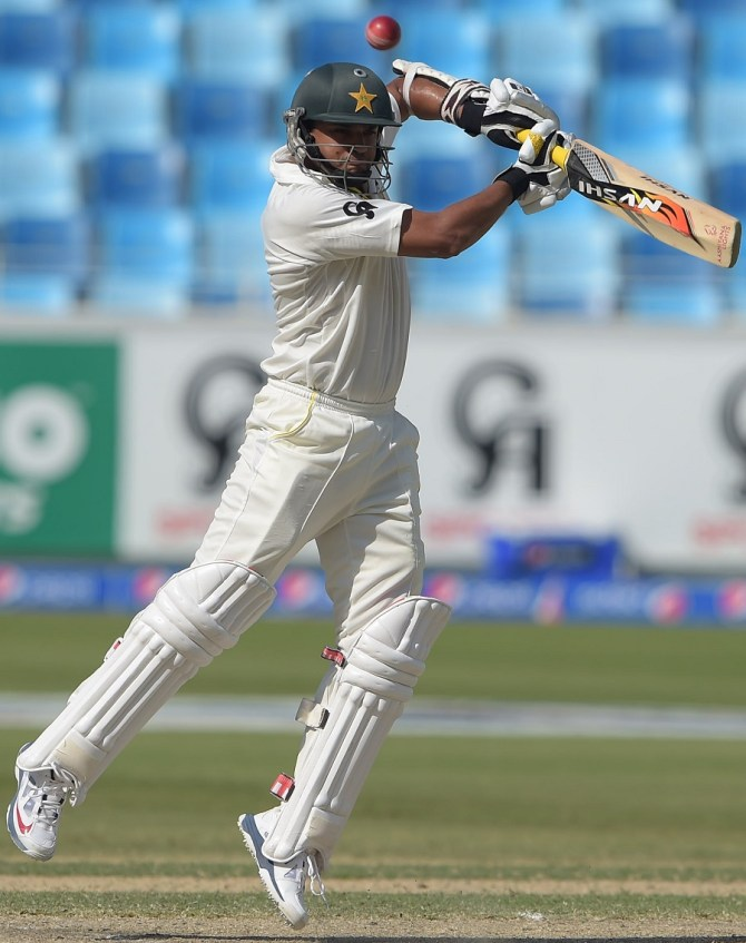 Ali hit six boundaries and a six during his knock of 75