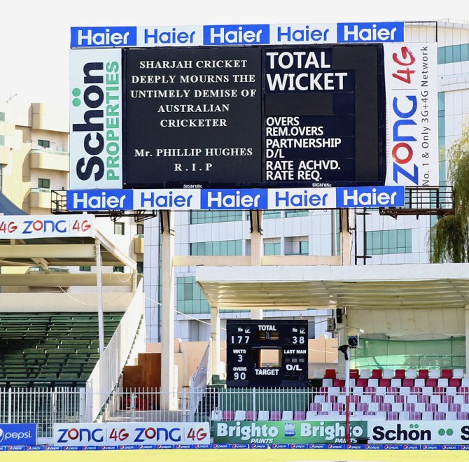 Cricket matches all over the world were postponed after Hughes passed away