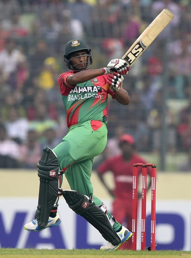 Mahmudullah hit six boundaries during his career-best knock of 82