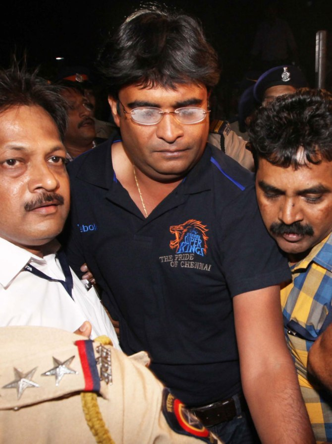 Meiyappan was found guilty of illegal betting during the 2013 IPL season