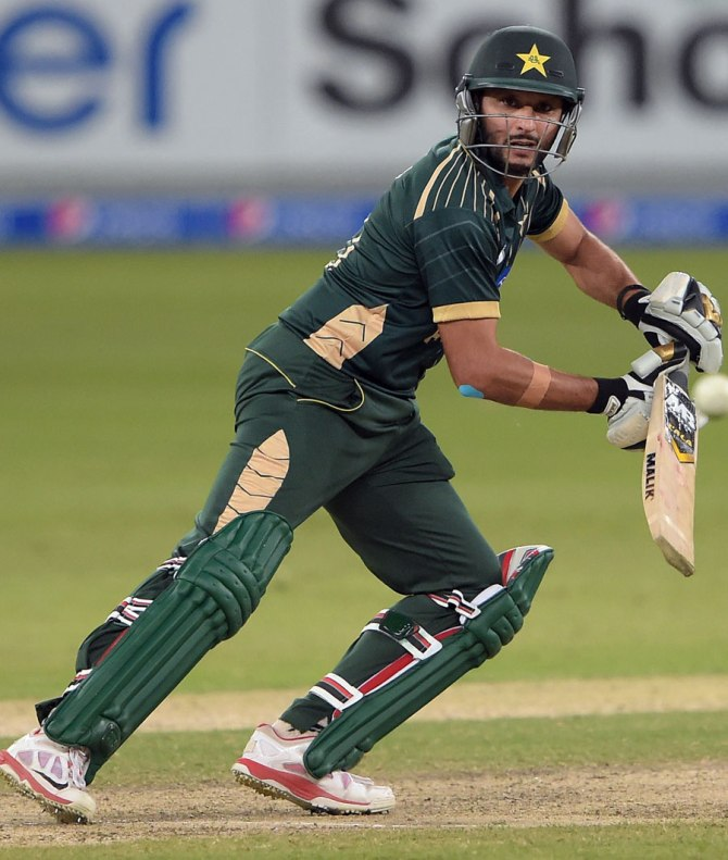 Afridi struck seven boundaries and a six during his knock of 61