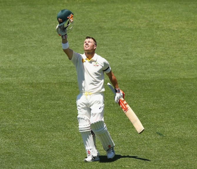 Warner dedicated his 10th Test century to Phillip Hughes