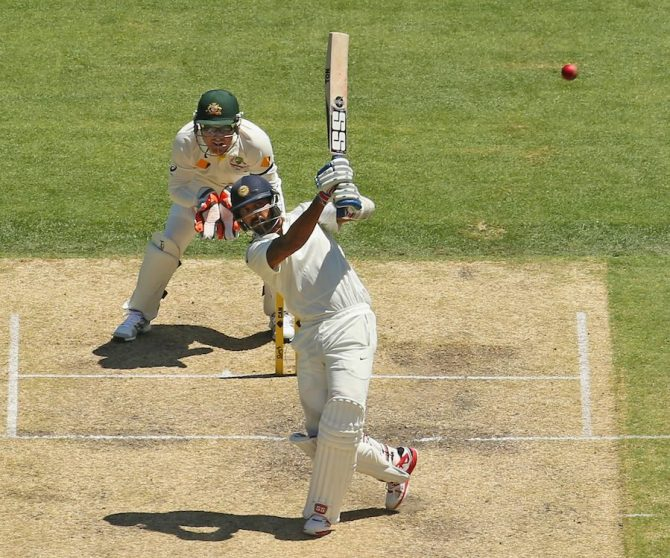 Vijay struck three boundaries and two sixes during his innings of 53