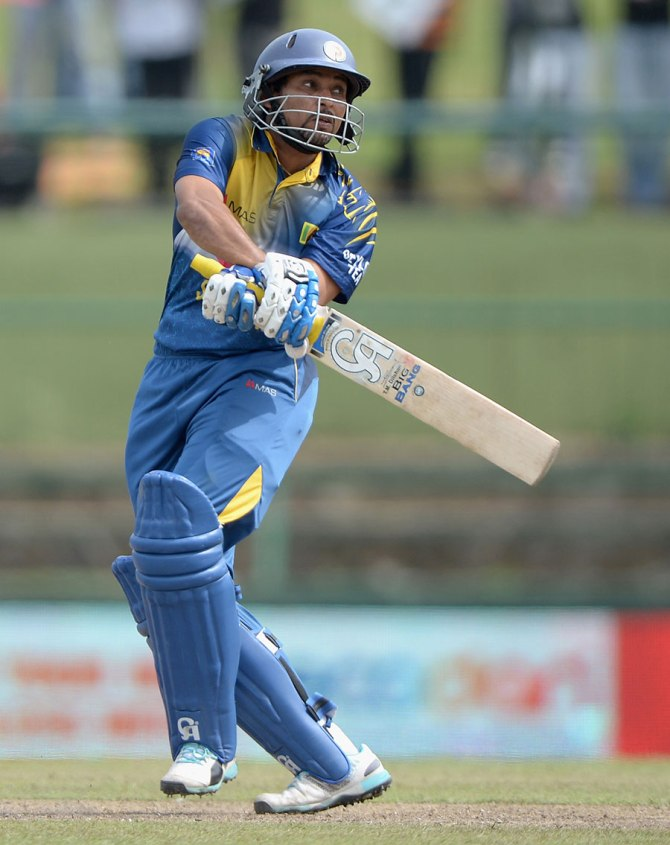 Dilshan hit eight boundaries during his knock of 68