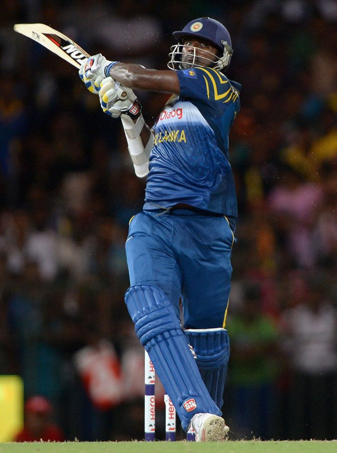 Perera only took 23 balls to bring up his half-century