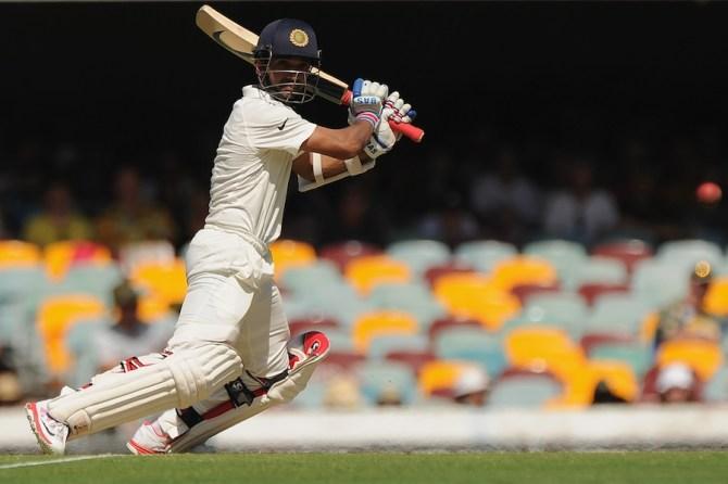 Rahane hit seven boundaries during his unbeaten knock of 75