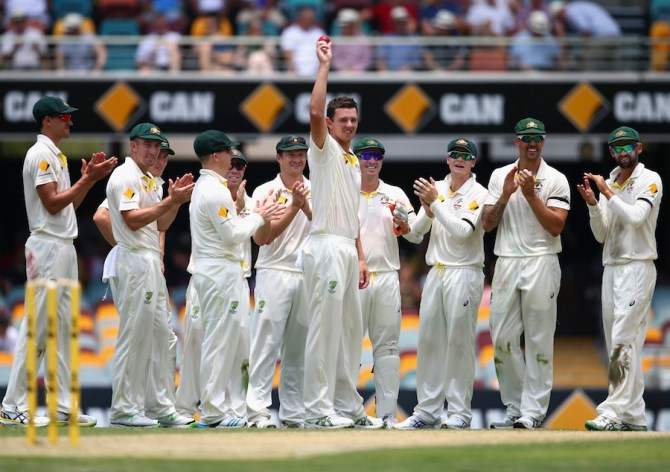 Hazlewood finished with figures of 5-68 off 23.2 overs