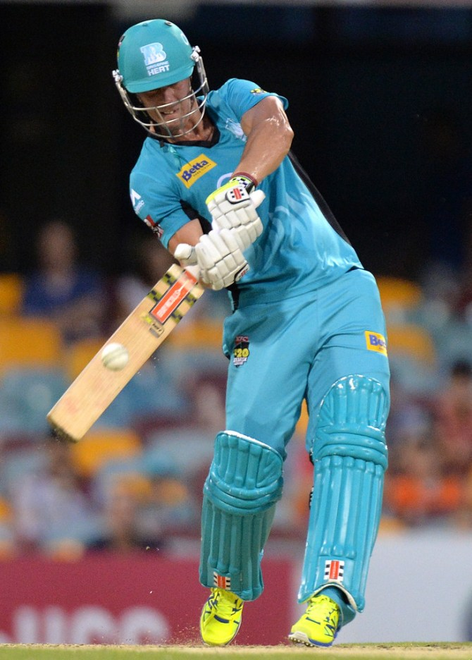 Lynn walloped five boundaries and a six during his knock of 48