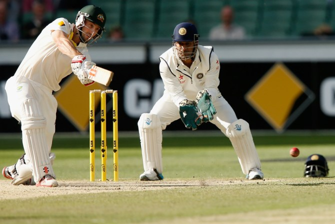 Marsh hit eight boundaries and a six during his unbeaten knock of 62