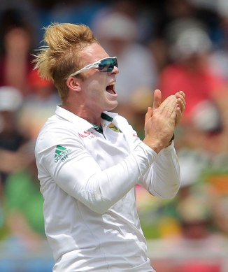 Harmer dismissed Smith, Johnson and Chanderpaul