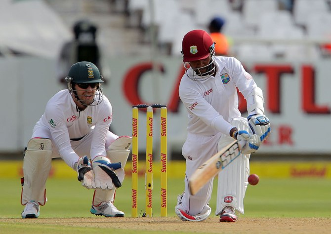 Ramdin hit six boundaries during his knock of 53