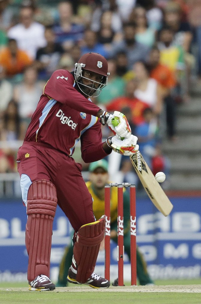 Gayle walloped nine boundaries and seven sixes during his knock of 90