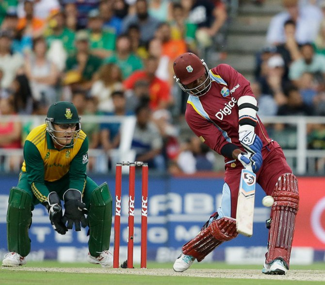 Samuels played some dazzling shots during his innings of 60