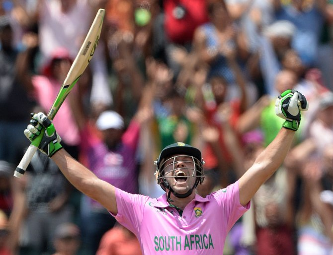 De Villiers now holds the record for the fastest ODI century in history