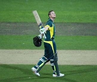 Smith celebrates after scoring his third ODI century