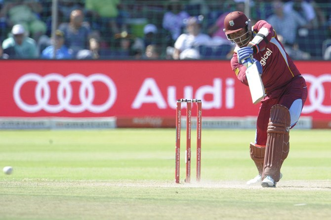Samuels hit five boundaries and two sixes during his knock of 68