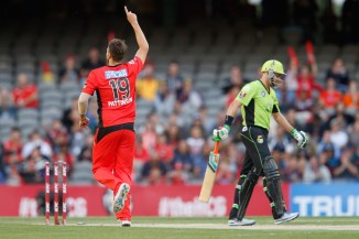 Pattinson finished with figures of 3-24 off four overs