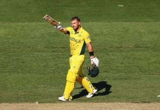Finch celebrates after scoring his sixth ODI century