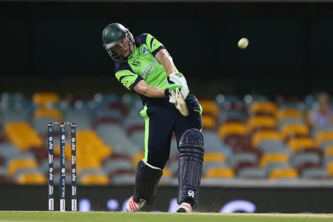 O'Brien hammered eight boundaries and two sixes during his innings of 50