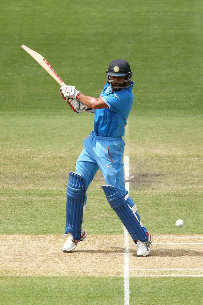 Dhawan hit seven boundaries and a six during his knock of 73