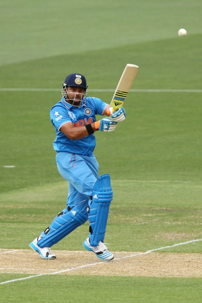 Raina played some superb shots during his innings of 74