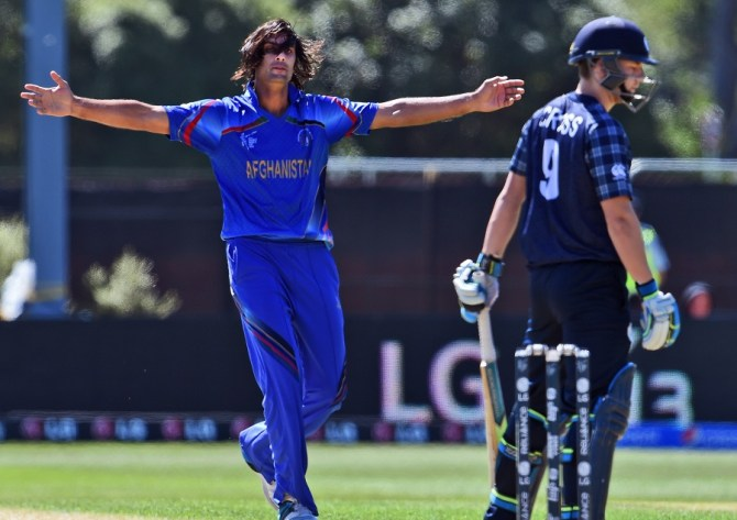 Zadran finished with figures of 4-38 off 10 overs