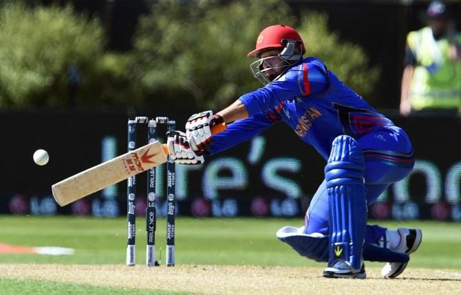 Ahmadi hit eight boundaries during his innings of 51