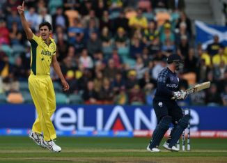Starc finished with figures of 4-14 off 4.4 overs