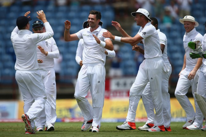 Anderson finished with figures of 4-43 off 22 overs