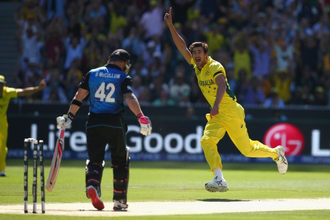 Starc picked up 22 wickets during the World Cup at an average of 10.18