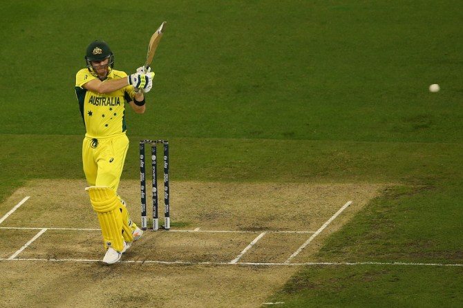 Smith hit three boundaries during his unbeaten knock of 56