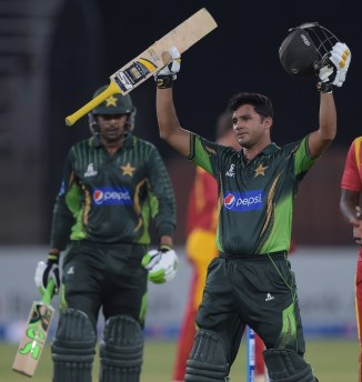 Ali celebrates after scoring his second ODI century