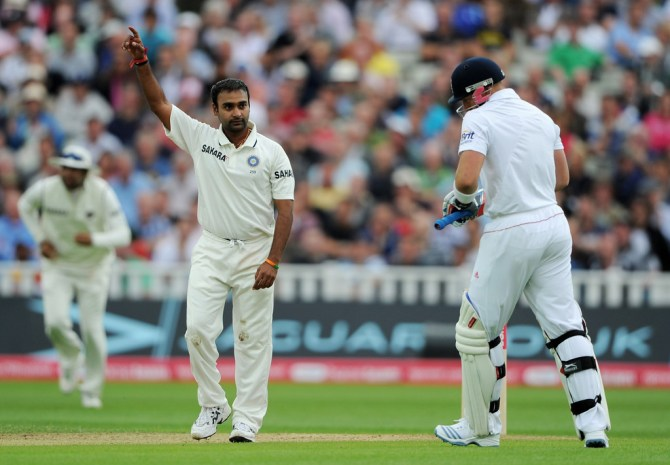 Mishra's last Test match for India came against England in August 2011