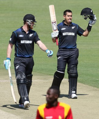 New Zealand will be without Taylor (right) for their T20 against Zimbabwe and the limited overs series against the Proteas