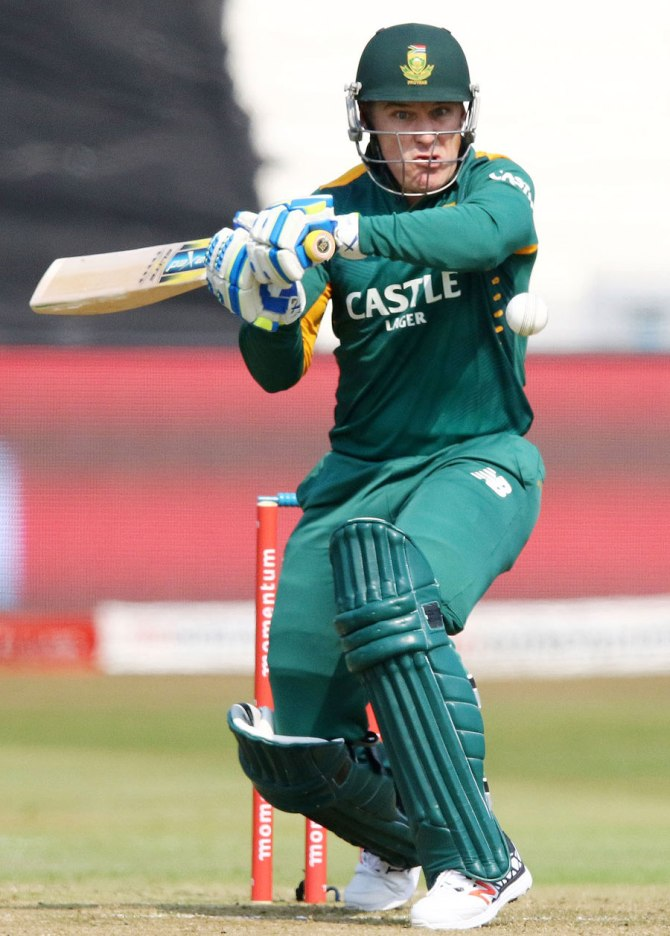 Van Wyk hit four boundaries and two sixes during his knock of 58