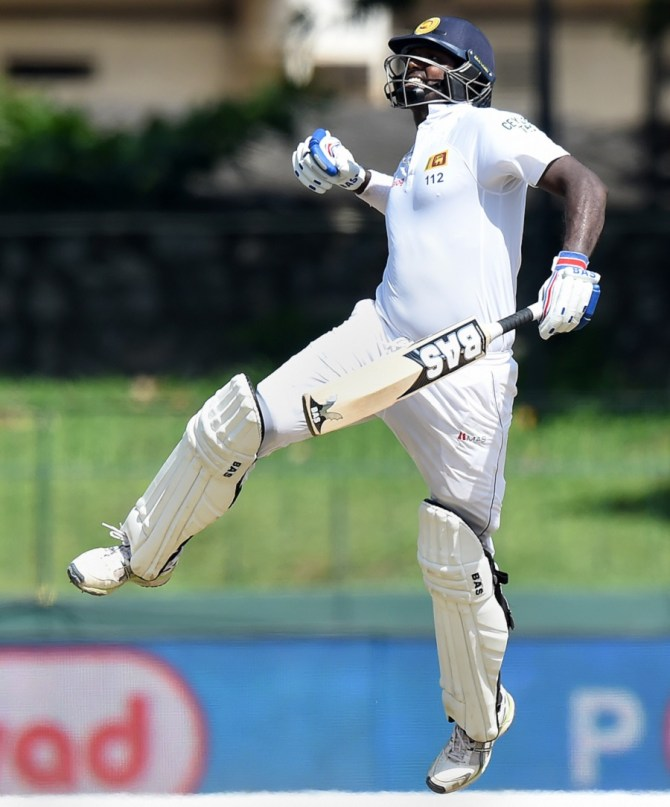 Mathews is delighted after scoring his seventh Test century