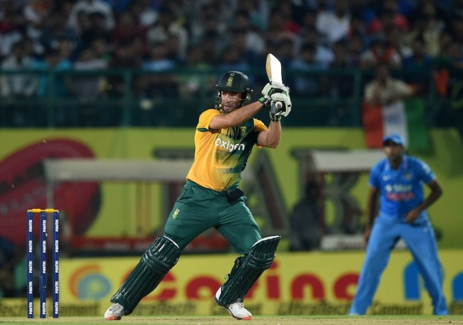De Villiers hammered seven boundaries and a six during his innings of 51