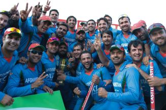 Afghanistan celebrate their historic series win