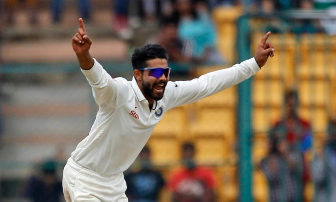 Jadeja finished with figures of 4-50 off 16 overs