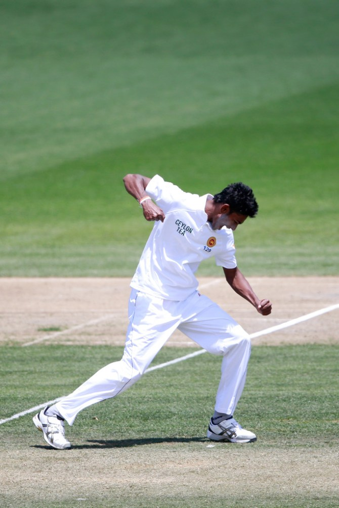 Chameera finished with figures of 5-47 off 12.4 overs