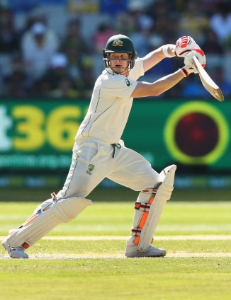 Smith hit five boundaries during his knock of 70 not out