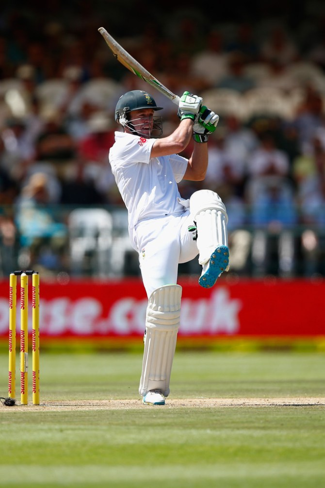 De Villiers scored his 39th Test fifty