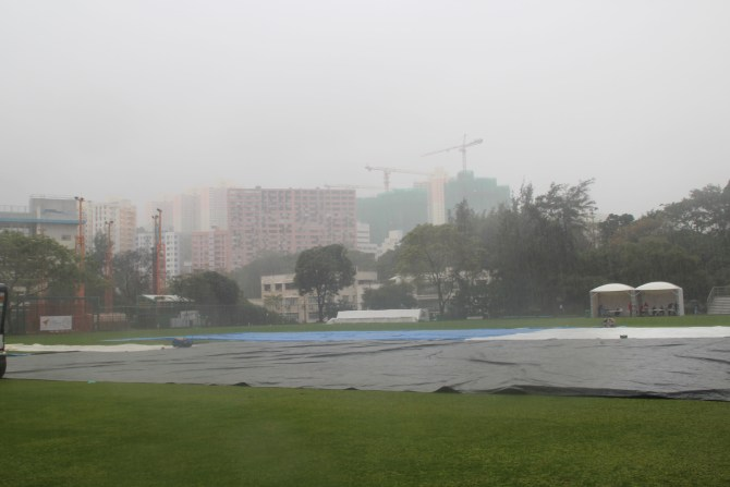 Rain had the final say on the second day