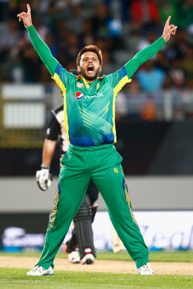 Afridi was named Man of the Match for his all-round performance