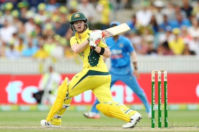 Smith scored his ninth ODI fifty