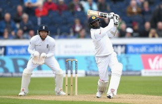 Mathews struck nine boundaries and a six during his knock of 80
