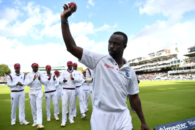 Kemar Roach five wickets West Indies England cricket