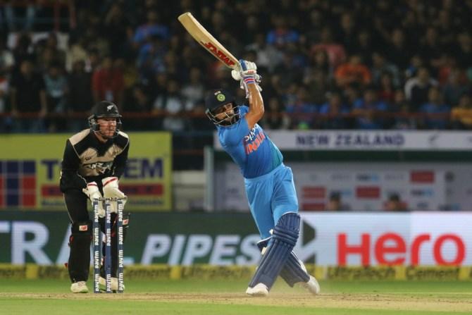 Virat Kohli fifty India New Zealand cricket