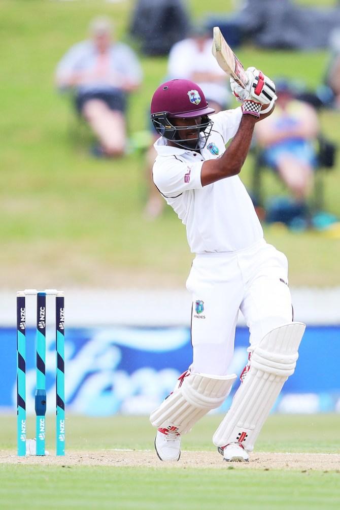 Kraigg Brathwaite fifty West Indies New Zealand cricket