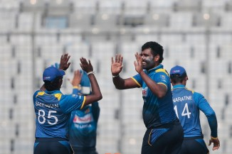 Thisara Perera four wickets 39 not out Sri Lanka Zimbabwe ODI tri-series cricket